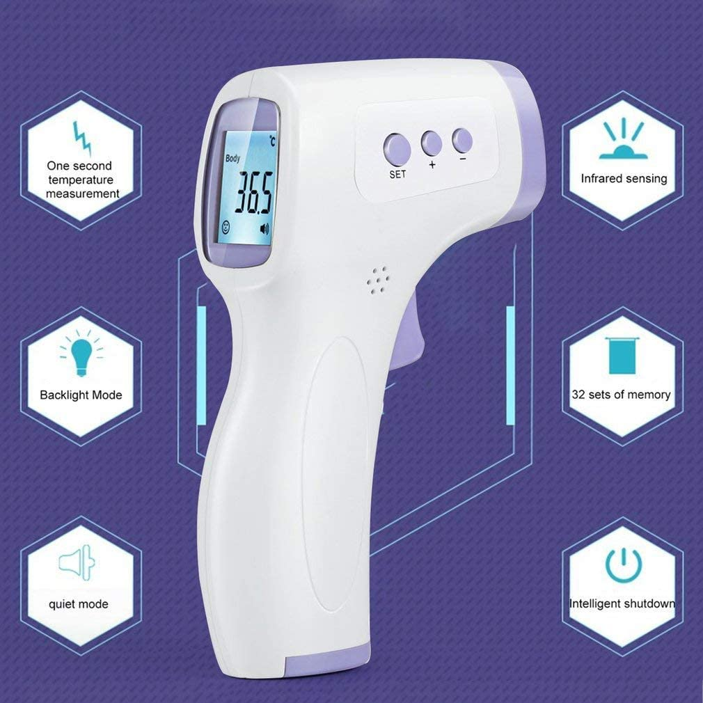 Thermomètre Infrarouge Numérique Affichage Mesurement Pièce Multifonction