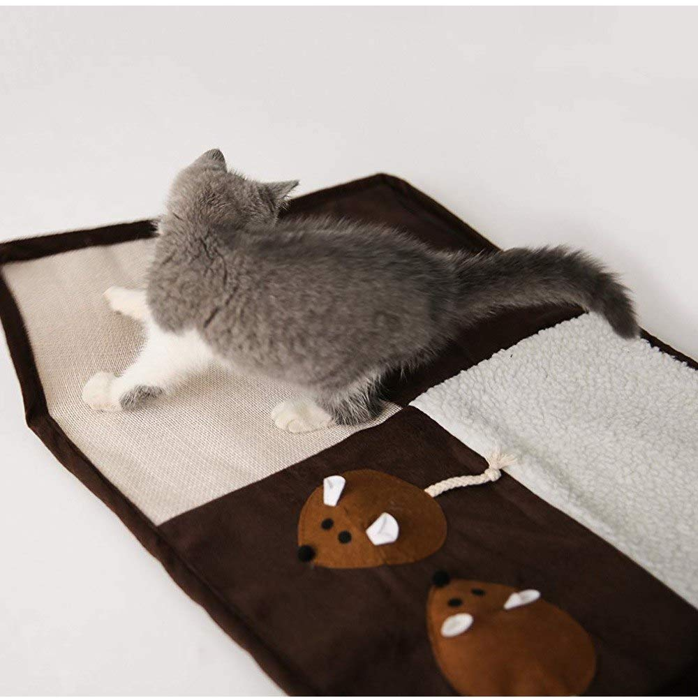 Amazon.com : Best Quality cat Scratch mat Natural sisal Scratcher Ball Ringing Paper cat Mouse Toy Cover Sofa Furniture : Pet Supplies