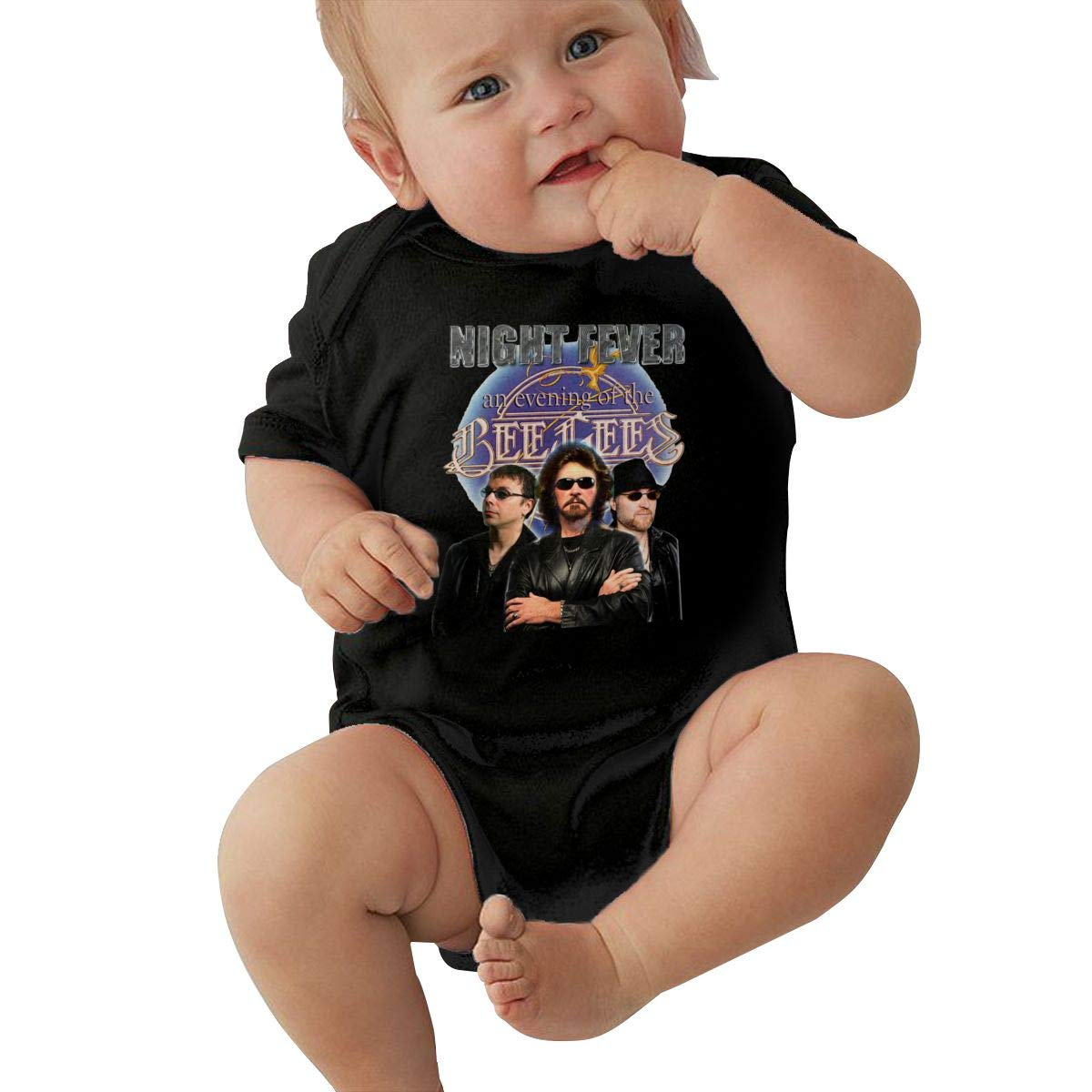 SusanHuling Bee Gees Unisex Baby Boys Girls Romper Bodysuit Infant Funny Jumpsuit
