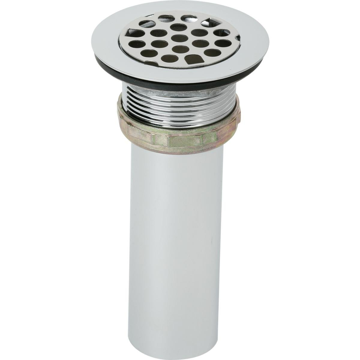 Elkay LK8 2'' Drain Fitting with Type 304 Stainless Steel Body, Grid Strainer, and Tailpiece