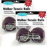 Top Glides Precut Walker Tennis Ball Glides - Black - 2 Pairs