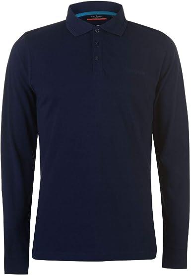 Pierre Cardin - Polo de manga larga para hombre, color azul ...