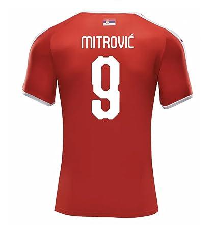 d4fe3d27d13 Amazon.com   PUMA MITROVIC  9 Serbia Men s Home Jersey World Cup ...