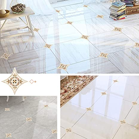 Details about  /15x//sheet Ceramic Tile Stickers Self Adhesive Art Diagonal Floor Stickers Modern
