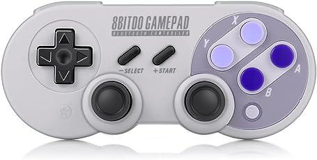 InLife 8Bitdo SN30 Pro Gamepad, Controller Inalámbrico Orignal Bluetooth Gamepad Classic Joystick para Windows, Mac OS, Android, Steam, Nintendo Switch (Violeta)