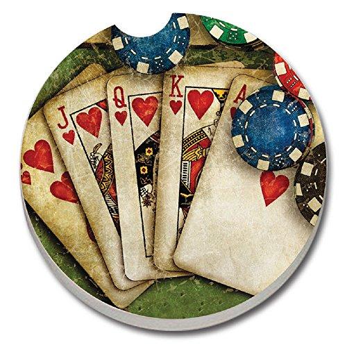 Poker Royal Flush Ceramic Coaster