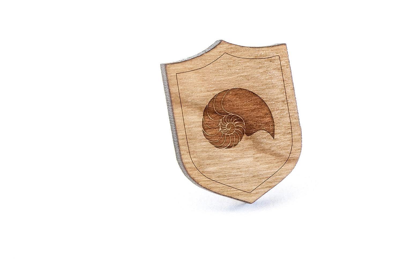 Nautilus - Pin de Solapa de Madera y alfiler para Corbata, rústico ...