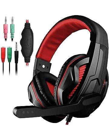 YuCool Gaming Headset, Auriculares estéreo con aislamiento de ruido con bajos con cable de 3