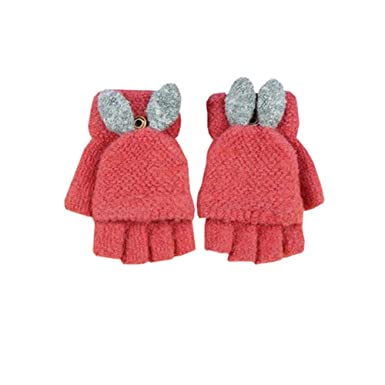 Back To Search Resultsapparel Accessories 2018 New Children Winter Gloves Fingerless Kids Cartoon Knitted Stretch Warm Suede Fabric Full Finger Mittens Girls Boys Gloves