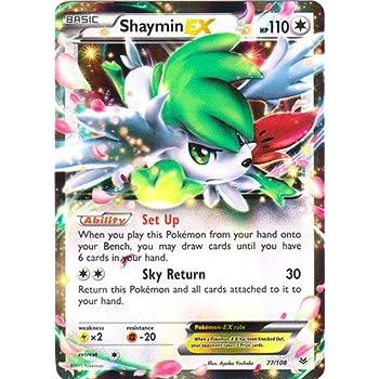 Amazoncom Pokemon Shaymin Ex 77108 Xy Roaring Skies Holo