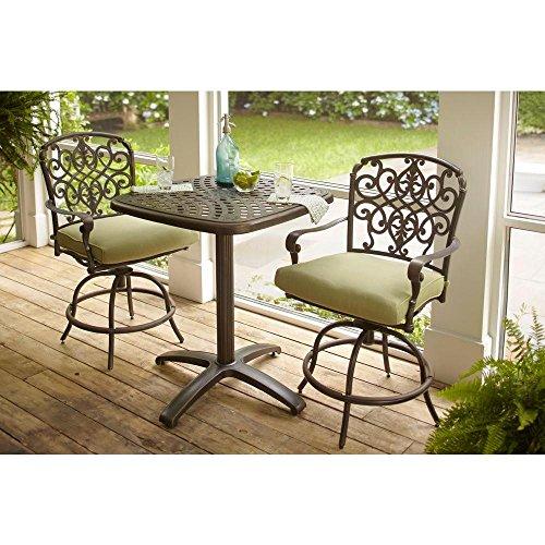 Amazon.com : Edington 3 Piece Patio Balcony Set With Celery Cushions :  Garden U0026 Outdoor