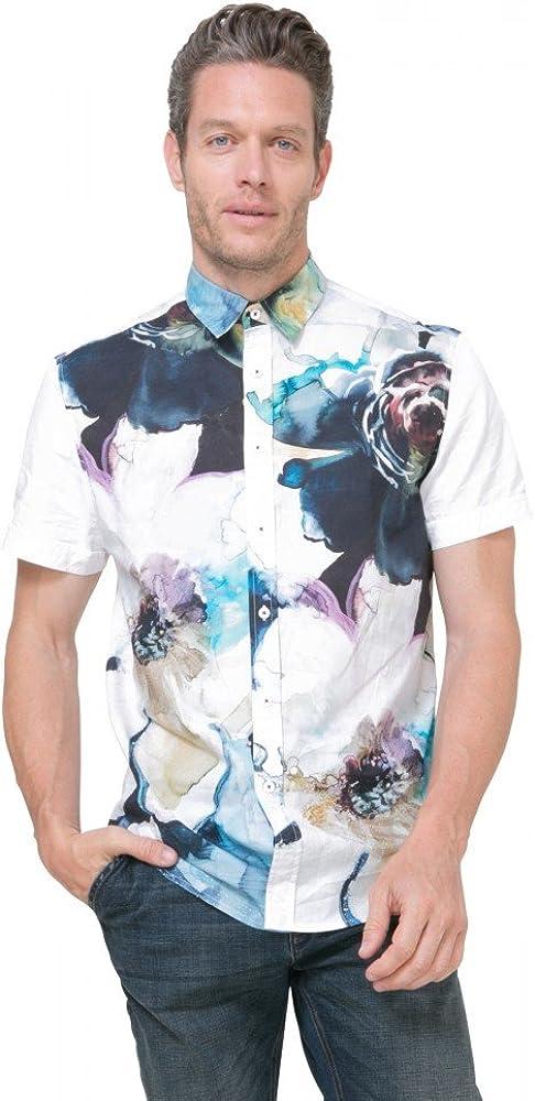 Desigual Camisa Leo. Talla s.: Amazon.es: Ropa y accesorios