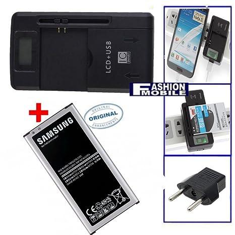 Cargador 3-1 bateria + bateria Original Samsung Galaxy S5 i9600 EB-BG900B 2800mAh USB Red