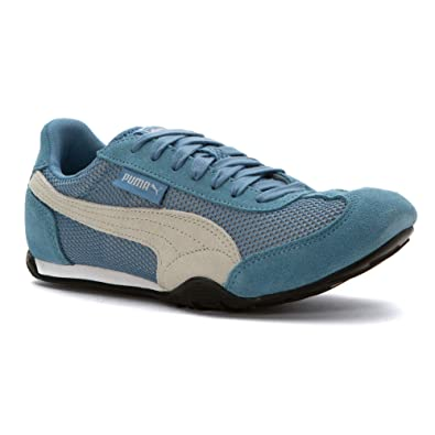 94298669684 PUMA Women s 76 Runner Mesh Suede Blue Heaven Black 5.5 M