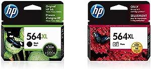 HP 564XL | Ink Cartridge | Black | CN684WN & 564XL | Ink Cartridge | Photo | CB322WN