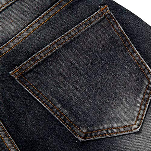 Uomo Strappati Pantaloni Casual Nero Da Sportivi Qinsling Elegante Fit D In Uomo Slim Jeans Pants qgxEq0T