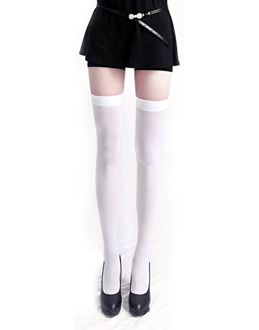 205262f275d20 HDE Women's Stockings Over the Knee Opaque Tights Thigh High Nylon Socks:  Amazon.ca: Clothing & Accessories
