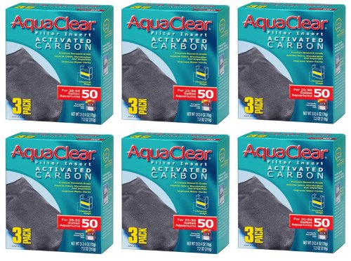Hagen AquaClear Filter Insert Activated Carbon (6-Pack)