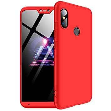 MYLBOO Funda Xiaomi Mi A2 Lite, [3 en 1] 360 Grados de protección Total del Cuerpo,[A Prueba de Golpes] Mate Estuche rígido de PC ultradelgado para ...