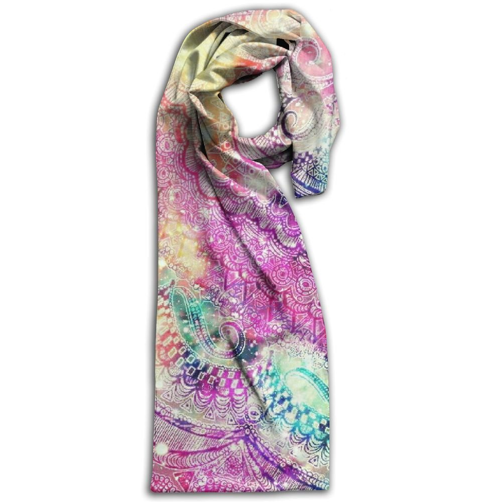Mandala Kaleidoscope 100% Polyester Soft Scarves Shawl Gorgeous Long For Men And Women Gift For Travel