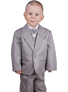 64cc60ffc1117 Boutique-Magique Costume bébé Complet Gris Mariage baptême  Amazon ...