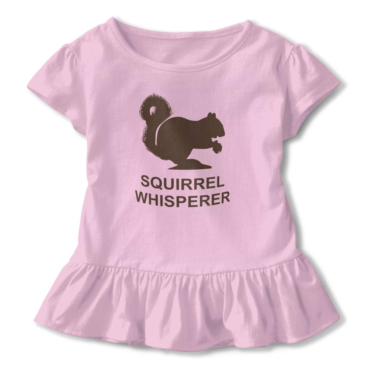 ZP-CCYF Squirrel Whisperer Toddler Baby Girl Ruffle Short Sleeve T-Shirt Comfortable Cotton T Shirts