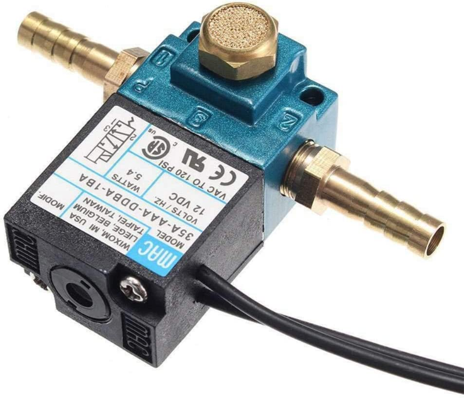 Aike Home Electronic boost control solenoid valve DC 12V 5.4 W for ECU 3-port PWM 35A-AAA-DDBA-1BA