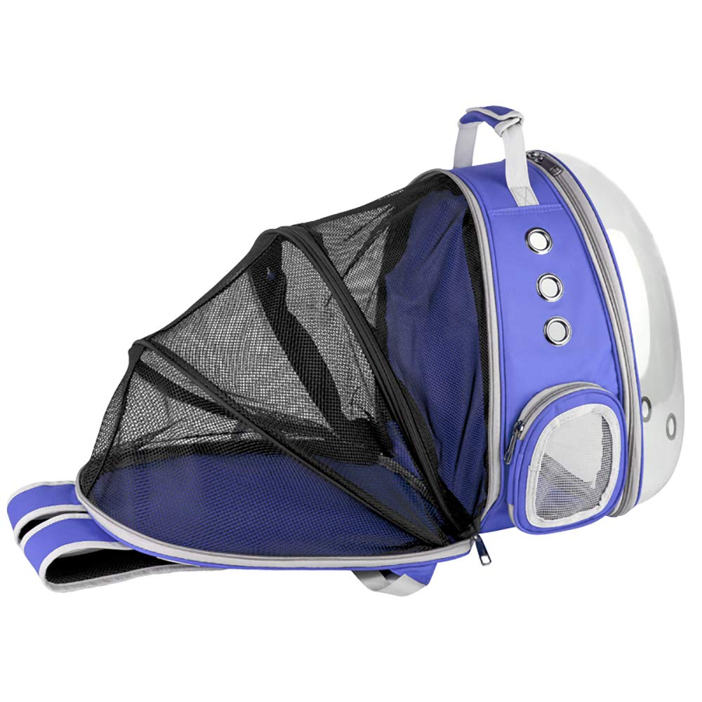 bluee Pet Carrier,Cat Dog Puppy Travel Hiking Camping Pet Carrier Backpack, Space Capsule Bubble Design,Waterproof SoftSided Handbag Backpack for Cat and Small Dogs,Black