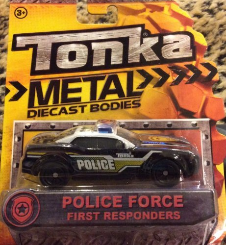 Tonka Metal Diecast Bodies - First Responders Police Force Cruiser 1:55 scale (Tonka Remote Control Car)
