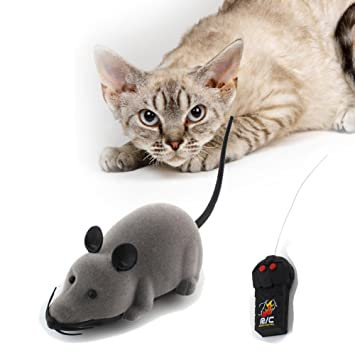 RC Elektrische Ferngesteuerte Ratte Maus mit Fernbedienung Haustier Katzen Hunde Spielzeug