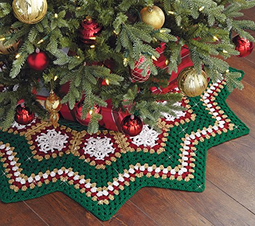 (Sparkle Christmas Tree Skirt Crochet Kit)