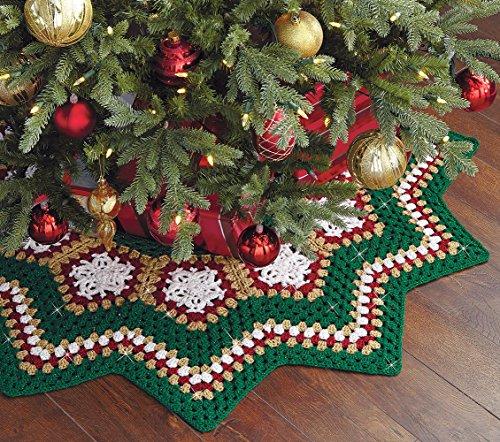 - Sparkle Christmas Tree Skirt Crochet Kit