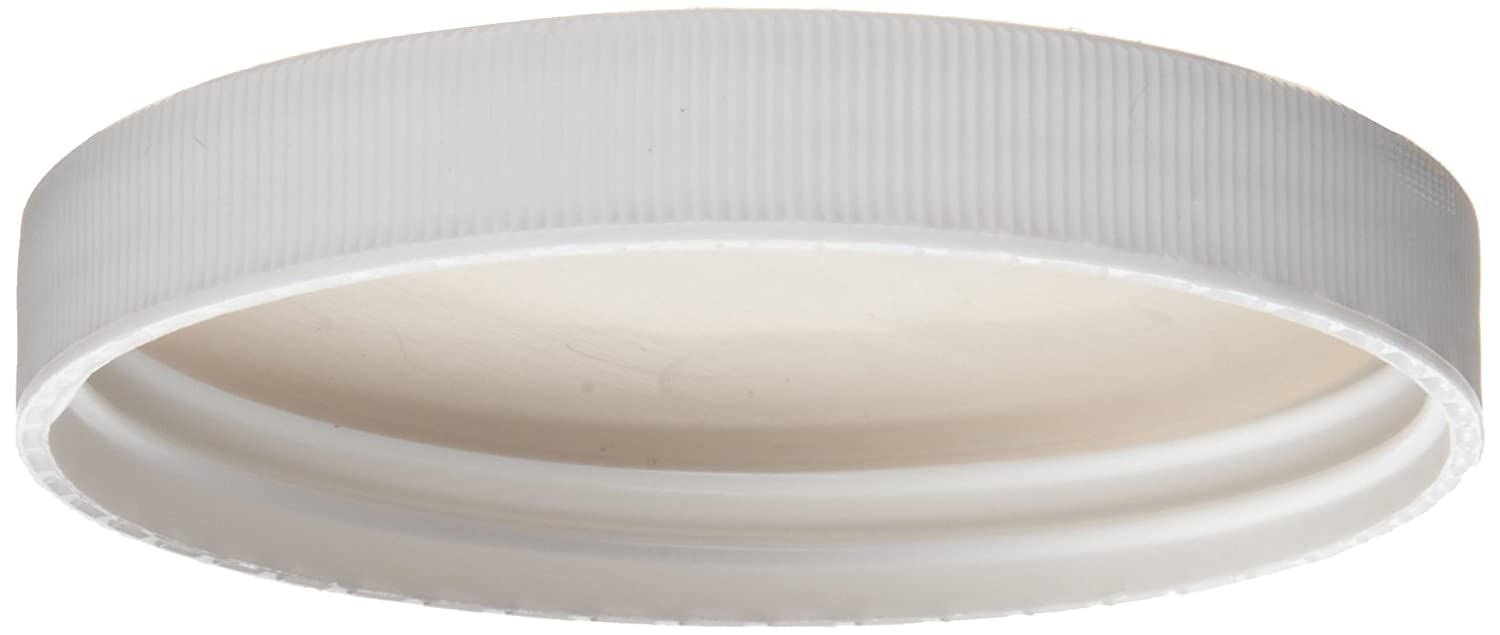 Pack of 2750 45-400 Size Wheaton 239439 White Polypropylene Screw Cap with PTFE Faced Foamed Polyethylene Liner