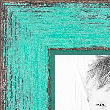 Amazon Arttoframes 3x5 3 X 5 Picture Frame Aqua Rustic