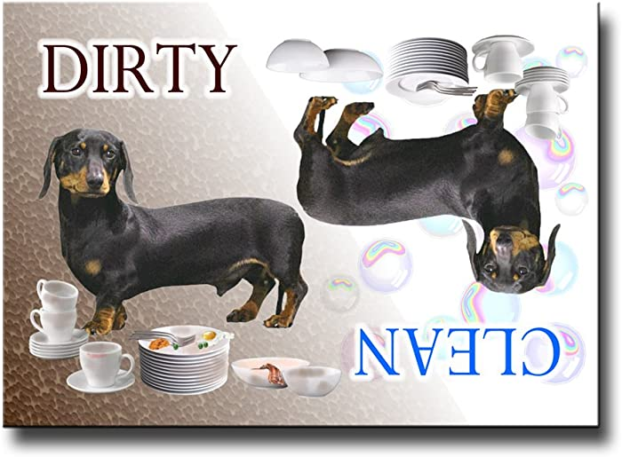 Wag Whimsy Dachshund Clean Dirty Dishwasher Magnet No 2