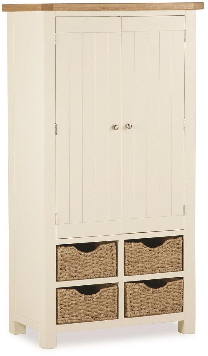 Roseland Furniture Daymer Painted Larder Unit - Kitchen Storage ...