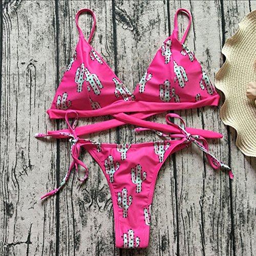 Bagnarsi Cactus Spiaggia Costumi Kootk Pezzo Donna Bagno S Impostato Tankini E Sexy Nuoto Due Slip Da Costume Top Swimsuit Bikini Suit qOaqvRpr