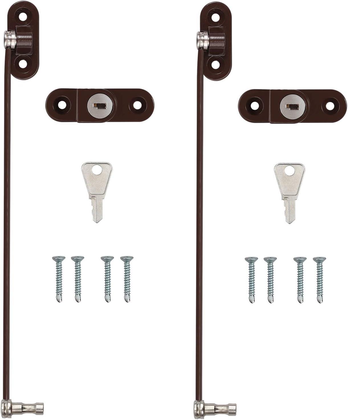 2 cables de seguridad para ventanas y puertas peque/ñas para uso dom/éstico y comercial eSynic