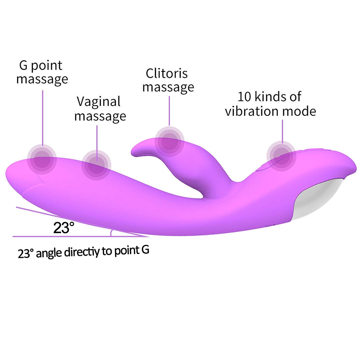 G-Spot Rabbit Rechargeable Dildo Vibrator Adult Sex Toys for Women - Silicone Clitoris Vagina Stimulator Massager Sex Things for Couples