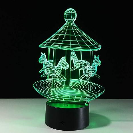 Lámpara de color orangeww 7 / Luces de noche LED visuales 3D ...