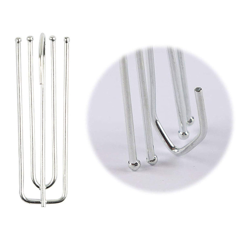 Vak/® in metallo zincato per tende a nastro gancio fiammingo profondo 20 pezzi Silver