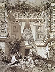 Mexico: Uxmal Ruins, C1844. /Nnorth Facade Of The House Of The House Of The Governor, At The Mayan Ruins At Uxmal, In Yucat_n, Mexico. Lithograph, C1844. is a licensed reproduction that was printed on Premium Heavy Stock Paper which captures ...
