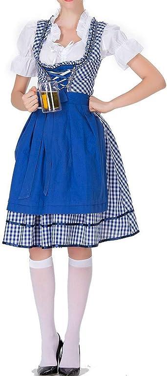 IYOWEL - Disfraz alemán para Mujer para Oktoberfest Bávaro ...