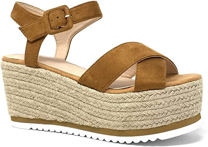 Angkorly Chaussure Mode Sandale Espadrille Grosse