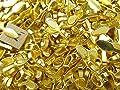 100 CleverDelights Leaf Bails - 26x8mm - Gold Color - Large Glue On Bails - Scrabble Glass Pendants Scallop Edge Tibetan Bails - 1 x 5/16 inch 26mm x 8mm