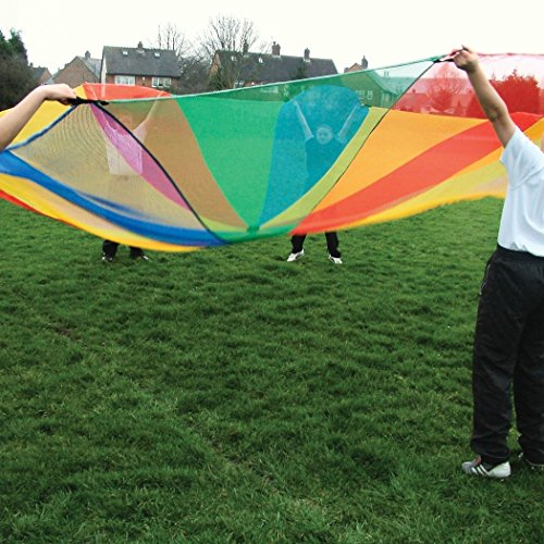 Kids Garden Activity Mesh Parachutes 12ft by Sportsgear US