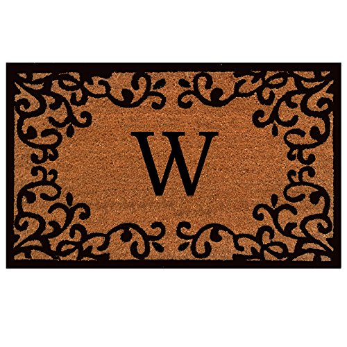 "Home & More 180021830W Chateaux Monogram Doormat 18"" x 30"" (Letter W)"
