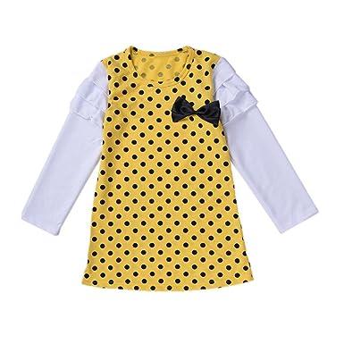 POLP Niña ಠ_ಠ Camiseta Termica Casual Moda Falda Princesa Manga ...