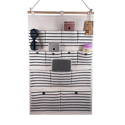 Amazon Vivimonkey Hanging Organizer With Pockets Fabric Wall