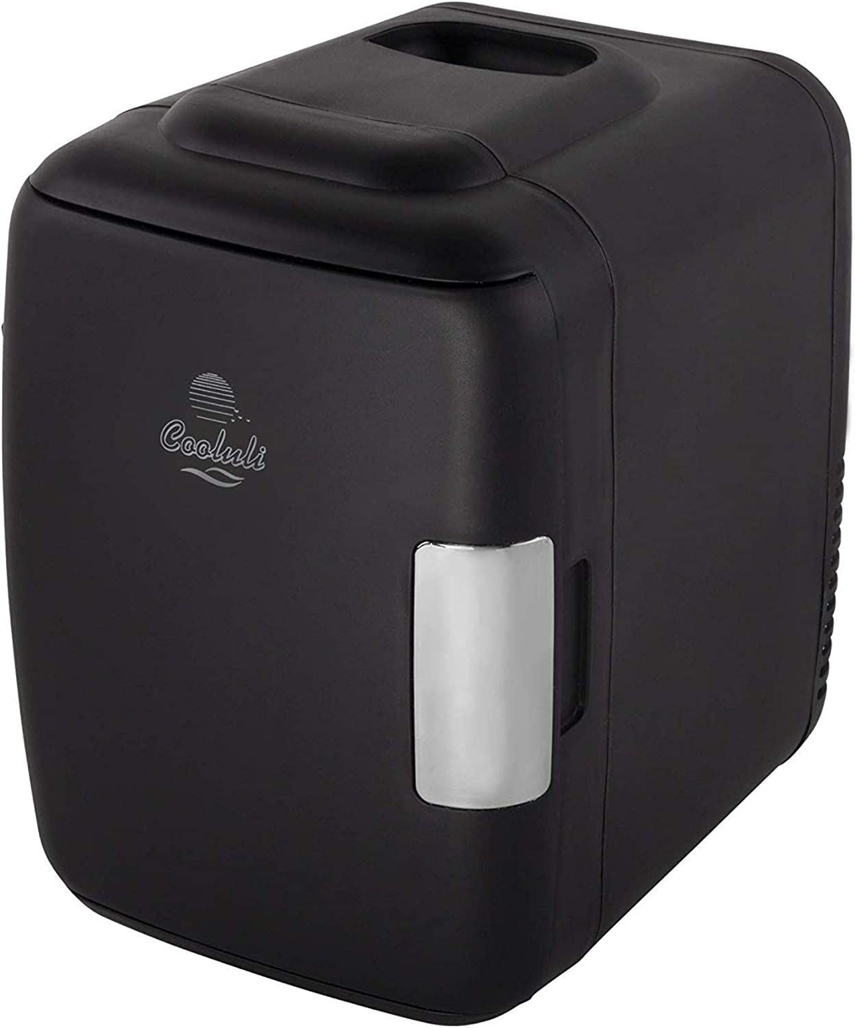 Cooluli Classic 4-liter Compact Cooler Warmer Mini Fridge for Cars, Road Trips, Homes, Offices and Dorms Black